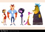 AnooshaSyed_teachers and students character design